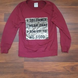 Harry Potter sweatshirt with changing message